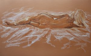 Nude back reclining by Banx - SOLD