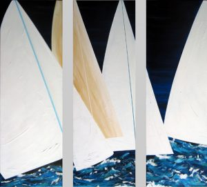 Regatta triptych by Banx 3@500x1500mm MC5353 - SOLD