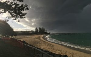 Storm over Moffat Beach