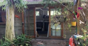 Photograph of our Sunshine Art Studio at home in Moffat Beach